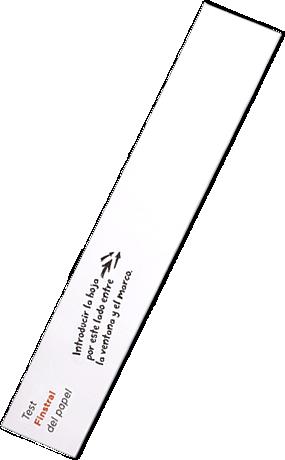 Tira de papel para comprobar la hermeticidad